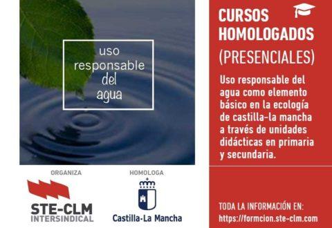 CURSO PRESENCIAL: Uso responsable del agua (Albacete 26 y 27 marzo)